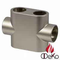 Oventrop Multiblock T декоративная крышка, проходной, матовая сталь