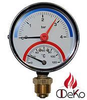Термоманометр ARTHERMO TI120 (80 мм, 0-6 бар, 0-120 °С)