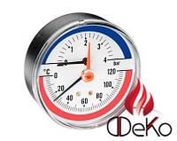 Термоманометр ARTHERMO TI004 (80 мм, 0-6 бар, 0-120 °С)
