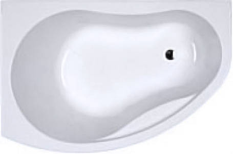 Ванна асимметричная 150*100 см, левая, белая, с ножками ДЫМЕР PROMISE (XWA3051000), фото 2