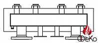 Распределительная гребенка для Regumat Ду40/50 на 4 контура