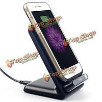 QI 3 катушки беспроводной зарядки колодки подставка док-станция для Samsung Apple HTC телефонов QI/таб
