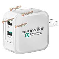 BW-S2qc qc2.0 + 2.4а 30Вт Dual USB зарядное устройство адаптер нам с power3s технологий BlitzWolf® [Qualcomm сертификат]