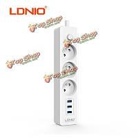 Ldnio se3330 ес подключить 3 порта зарядное устройство удлинитель USB зарядное устройство адаптер перемещения дома стены для iPhone iPad
