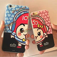 Adpo высокого качества пк романтических пар анти-капля в случае Series защиты iPhone 6 6s 4.7-дюйма