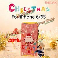ReMax милые рождественские подарки крышка случая задней части TPU для Apple iPhone 6 6s 4.7-дюйма