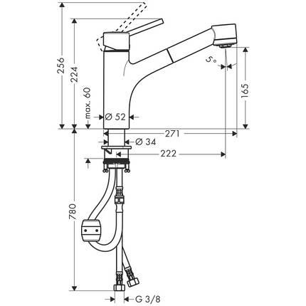 Смеситель для кухни, однорычажный HANSGROHE Talis S (32841000), фото 2