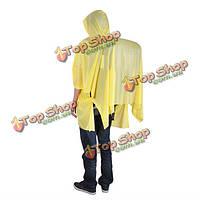 Портативный наружный плащ походы рюкзак кемпинг Сиамские пончо