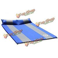 Автоматический двойной толстый надувной матрас с подушкой воздушной подушке ворсины коврика