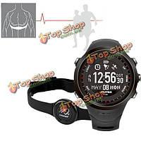 Спортивные GPS мониторинг сердечного ритма часы навигации компас