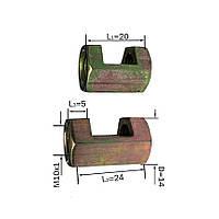 Переходник с выборкой для провода (на одну сторону)