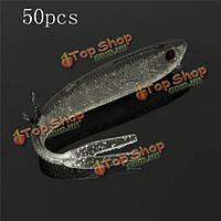 50шт 9.5см мягкой рыболовную приманку рыбалки колюшка приманки силиконовые приманки рыбалка приманка