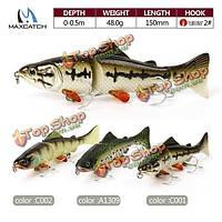 Maxcatch 15см гольян рыболовные приманки искусственные приманки 48г трудно рыболовные приманки