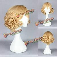 Синтетический продукт высокотемпературного женского косплея прически мультипликации парика костюма косплея сопротивления costum