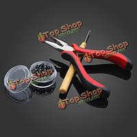 3шт плоскогубцы крюка иглы микро кольца наращивание волос набор инструментов
