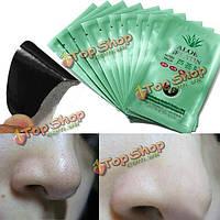 10шт алоэ гель очищающий поры угри удаление нос маской конк