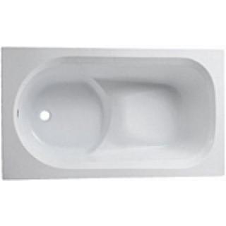 Ванна прямоугольная 120*70 см, белая, с ножками ДЫМЕР DIUNA (XWP3120000)