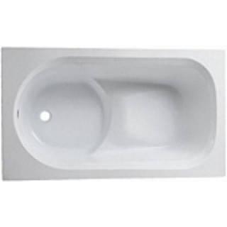 Ванна прямоугольная 120*70 см, белая, с ножками ДЫМЕР DIUNA (XWP3120000), фото 2