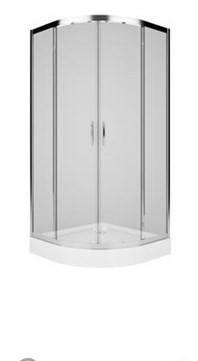 Душевая кабина профиль серебристый металлик,стекло прозрачное KOLO REKORD (PKPG90222003, фото 2
