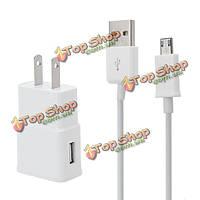США Plug AC дома стены адаптер питания зарядное устройство USB синхронизация данных кабель провод