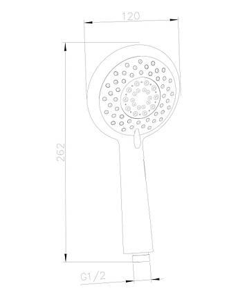Душ ручной 120 мм, 5 режимов, блистер IMPRESE (W120SL5), фото 2
