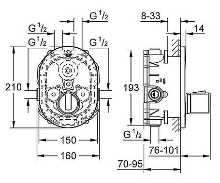 Термостат центральный GROHE Grohtherm2000 (19352000), фото 2