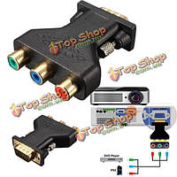 3 rca rgb видео девушки hd15-контактный разъем VGA адаптер для компонент видео Джек