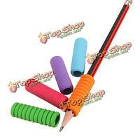 5шт успокаивают мягкие власти почерка карандаша ручки пены для детского ученика школы