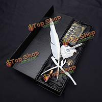 Ls806-а белый лебедь перо dip перо гусиное перо перо подарочный набор чернил включены
