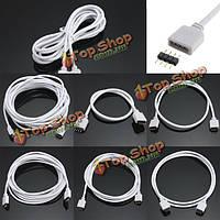 0.3/0.5/1/2/3/5м 4 контактный кабель розеточный разъем расширения LED полоса RGB и штекер