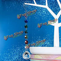 Окно радуги ручной Suncatcher кристалл призм мяч маятник свадьбы мобильный