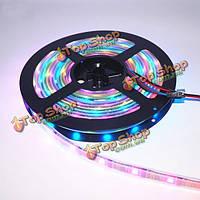 5м ws2812b IC SMD5050 не водонепроницаемый RGB LED полоса света индивидуальной адресацией веревочной лампы DC5V