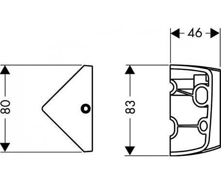 Угловой монтажный набор Hansgrohe (28105000), фото 2