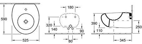 Биде подвесное VILLEROY & BOCH PURE STONE (547001R2), фото 2