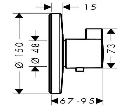 Термостат для душа HANSGROHE Ecostat S Highflow (15756000), фото 2