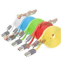 YooBao 80см плоский 2.1a микро красочные зарядки дата кабель для мобильного телефона
