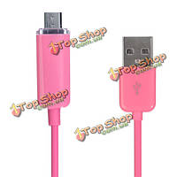 Micro 1м Colorful Glowing Cable For Андроид  Mobile Phone