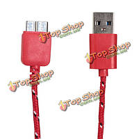 1м пеньковая веревка с USB 3.0 синхронизации данных кабель зарядного устройства для мобильного телефона