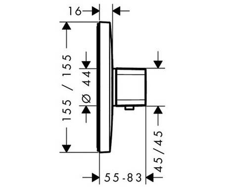 Термостат для душа HANSGROHE Ecostat E (15705000), фото 2
