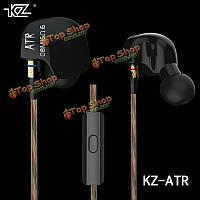 Earbud спорт наушники с микрофоном для HiFi KZ-ртд динамика в ухе бас стерео iPhone Sumsang Huawei