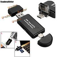 OTG данных USB 3.1 Type-C USB 2.0 Micro-USB адаптер для чтения карт памяти SD TF для Macbook ноутбук