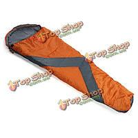 Открытый кемпинг спальный мешок мешки толщиной проезд из хлопка с капюшоном