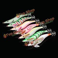 Светящихся кальмаров кондукторы 3.5 # 13см 20г дерева креветки приманкой кальмара крючки рыболовные приманки