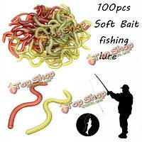 100pc мягкие рыболовные приманки джиг большой крюк моллюск червь бас Sofe приманки рыбалка