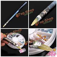 Горный хрусталь выбора воск карандаш ногтей расставить перо