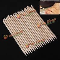 Деревянные палочки 20шт ногтей кутикулы pusher Remover маникюр инструменты