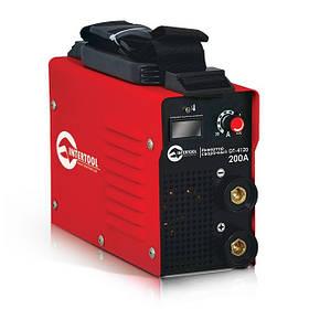 Инвертор мини 7.1кВт, 30-200А., электрод 1.6-4.0мм., IGBT, кейс. INTERTOOL DT-4120