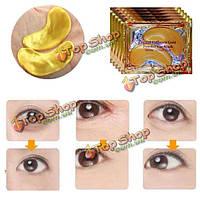 1 пара 24к золотой кристалл коллагена маска для глаз от темных кругов мешков под глазами патчи