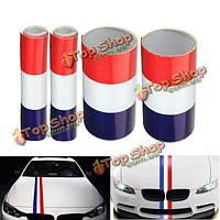 15см винил красный/белый/синий флаг Франции полоса стикер автомобиля капот украшение переводная картинка эмблема