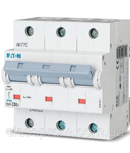 Автоматический выключатель 3-полюс. PLHT-C100/3 EATON